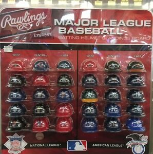 Details About New Complete 30 Mlb Teams Mini Batting Helmet Tracker Set With Standings Board