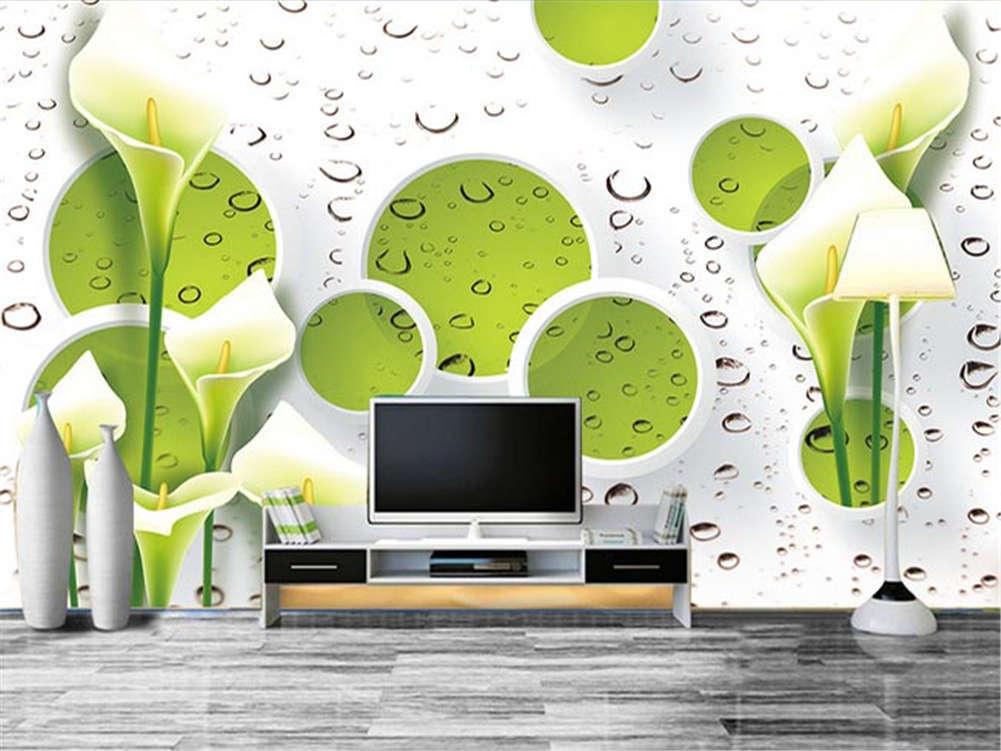 Fresh Grün Flower 3D Full Wall Mural Photo Wallpaper Printing Home Kids Decor
