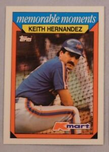 Details About 1988 Topps Kmart Memorable Moments Keith Hernandez Mets Baseball Card Lot Of 2