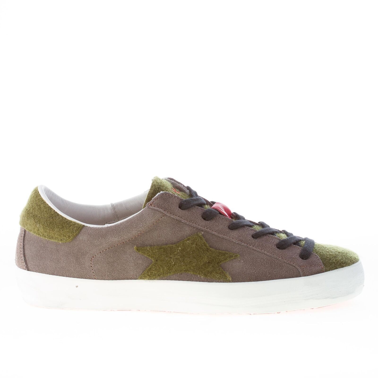 ISHIKAWA herren schuhe Low 1215 grey wildleder sneaker green filz made in