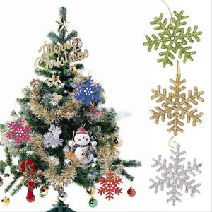 Rose Gold Glitter Star 10.5x9.5x2 CM Xmas Tree Hanging Decoration Ornaments