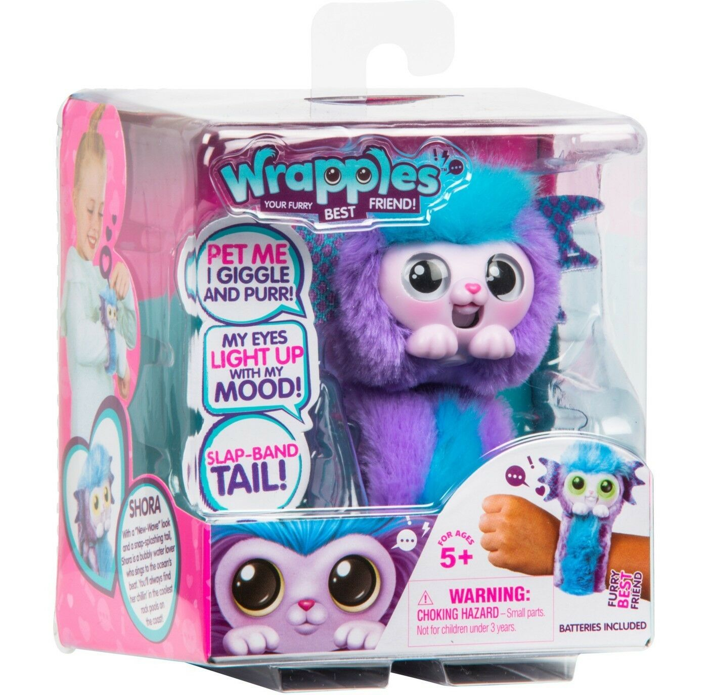 Little Live Pets Wrapples (SHORA-Purple) NEW In Hand, SHIPS NOW