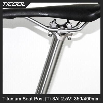 Easyti //Titanium Seatpost Bike Bicycle GR9Ti3Al2.5V 350//400mm 27.2//30.9//31.6