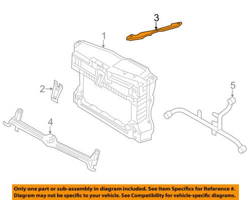 VW VOLKSWAGEN OEM 11-16 Jetta Radiator Core Support-Cross Bar Right 5C6805932