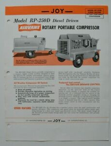 JOY-Rotary-Portable-Compressor-RP-250D-1960s-dealer-sheet-brochure-English-USA