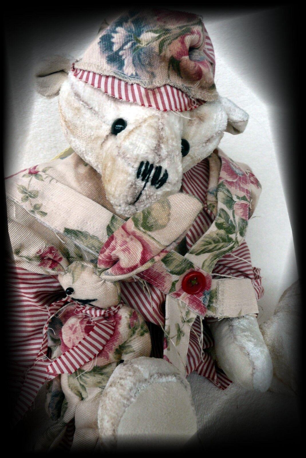 Künstlerbär von Teddy und Hase  Old Old Old Styl  Shabby Look  Handarbeit 249911