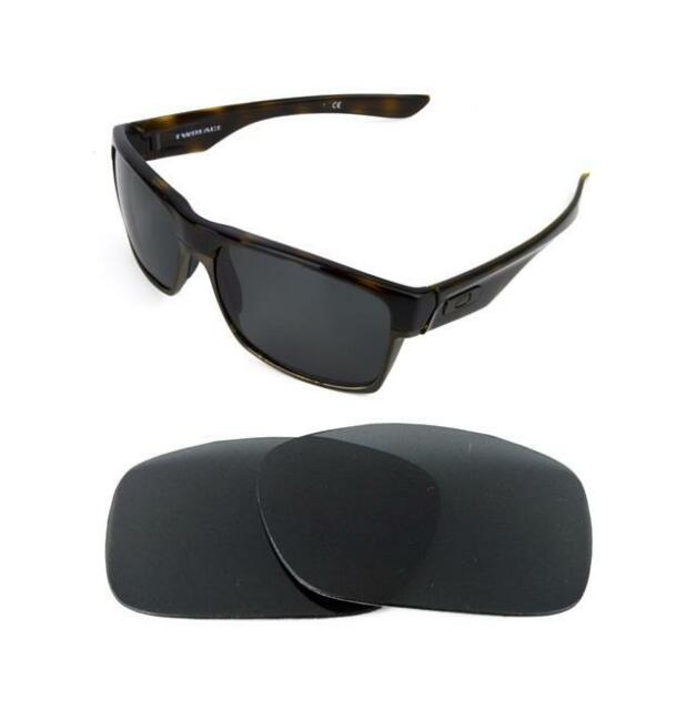 007a29f4e4 Polarized Black Replacement Lens for Oakley Two Face XL Sunglasses ...
