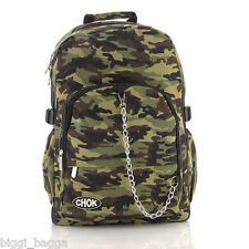 CAMOUFLAGE BACKPACK RUCKSACK Check Skate School College Army Emo Laptop CHOK Bag