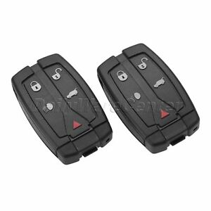 2Pc-Car-Remote-Key-Fob-5-Button-433MHz-with-Battery-Fit-For-08-12-Land-Rover-LR2