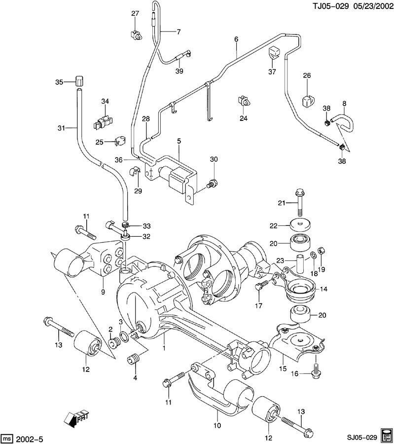 99 04 Chevy Tracker Suzuki Vitara Xl7 Air Vacuum Actuator