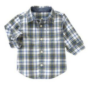 NWT Gymboree Boys Dress Shirt Button Up LS Oxford Long sleeve