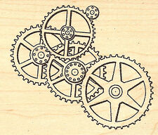 Sprockets Cogs & Gears Wood Mounted Rubber Stamp JUDIKINS, NEW - 3500F