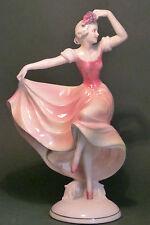 VINTAGE HERTWIG KATZHUTTE ART DECO PORCELAIN DANCING LADY FIGURE HOLDING GRAPES