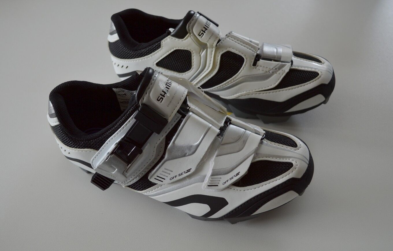 SHIMANO SH-XC50 MTB Schuhe weiß schwarz Gr. Gr. Gr. 38 (37) SPD US 5.2 23,8 cm XC50 9c9500