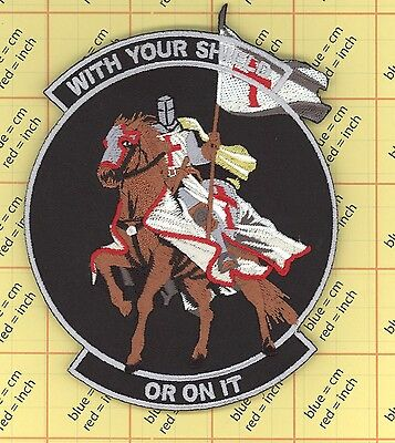 WITH YOUR SHIELD or on it TEMPLAR KNIGHTS MORALE patch CRUSADER HORSE military