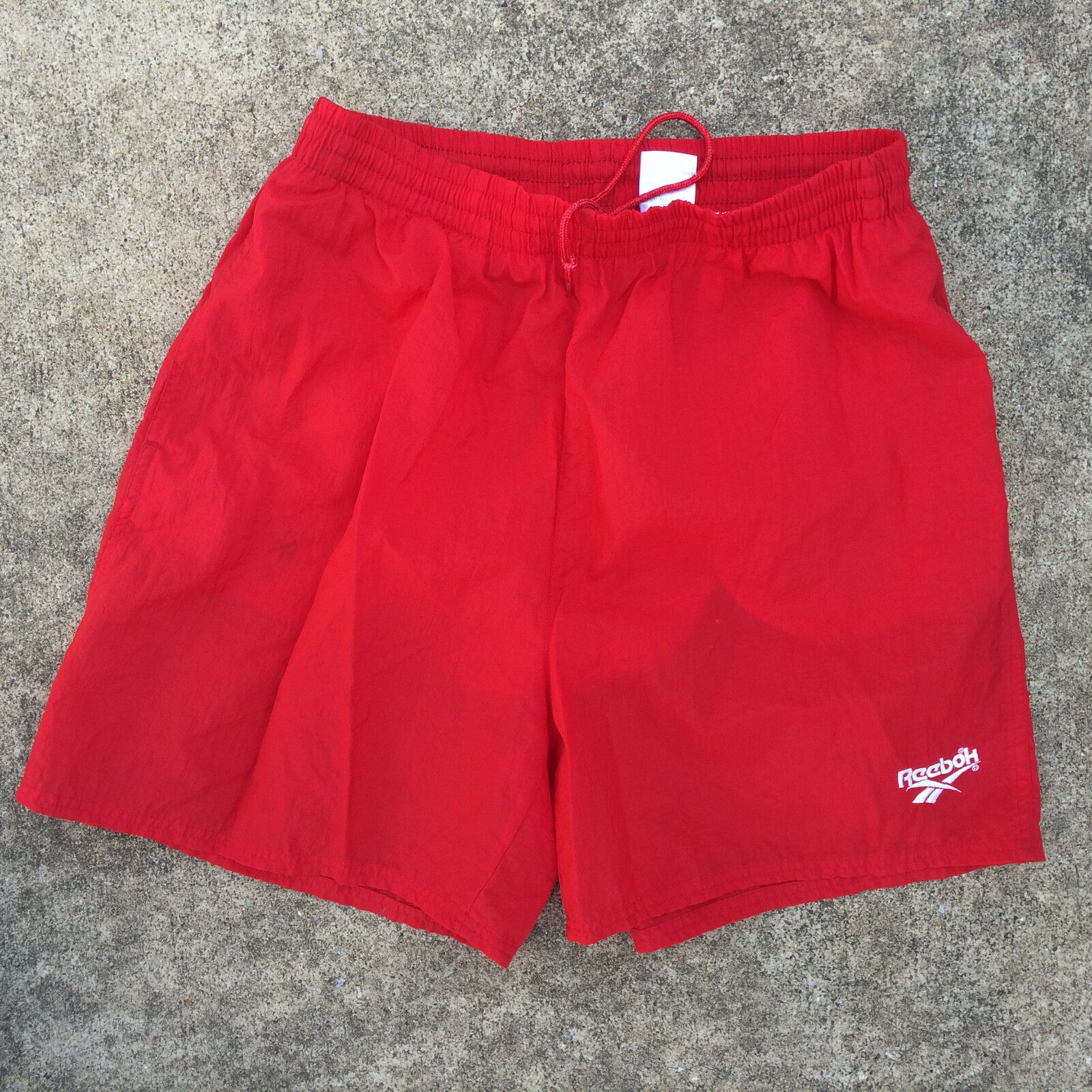 fcf937581851 Vintage 80s 90s Grunge Reebok Swim Surf Board Trunks color Red M ...