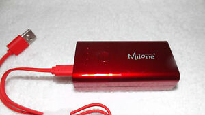 Details about MITONE 5200MAH POWER BANK WITH TORCH RED