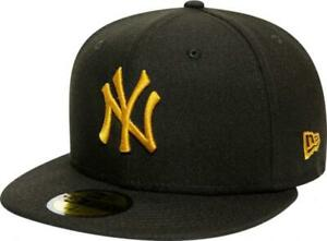 New-Era-New-York-Yankees-Black-Gold-League-Essential-MLB-Cap-59Fifty-5950-Fitted