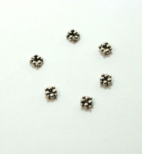 Spacer Perlen 925 Silber Zwischenteile DIY Vintage Schmuck Altsilber