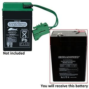 Details about PEG PEREGO 6 VOLT 6 V JOHN DEERE TRACTOR REPLACEMENT  RECHARGEABLE BATTERY NEW