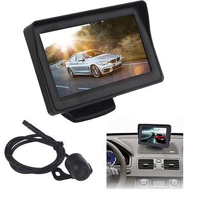 """2015 Monitor Mirror + Reverse 4.3"""" Car TFT LCD Rear View Backup CMOS Camera Kits"""