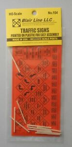 CONSTRUCTION-TRAFFIC-SIGNS-HO-SCALE-TRAIN-LAYOUT-DIORAMA-BLAIR-LINE-104