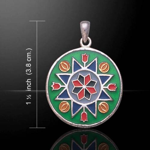 Flower Prosperity .925 Sterling Silver Pendant by Peter Stone Jewelry