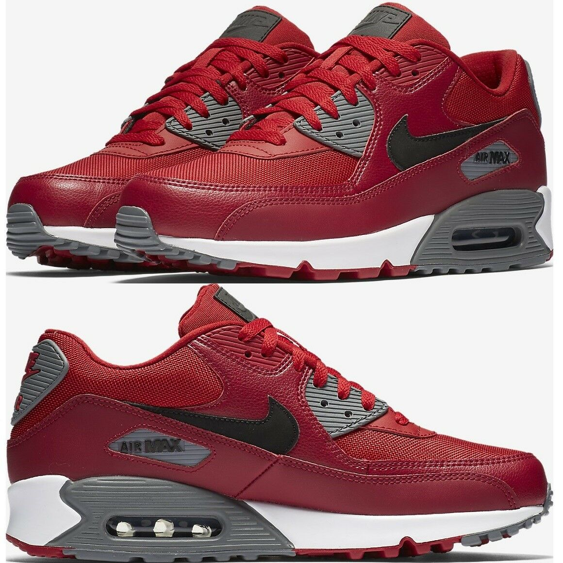 NIKE AIR MAX 90 ESSENTIAL homme fonctionnement COMFY SNEAKER Gym rouge/noir/Noble rouge