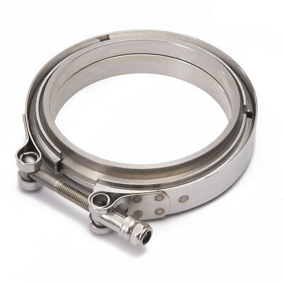 "clamp Exoracing 3.5/"" 89mm 304 Billet Stainless self aligning vband flange"