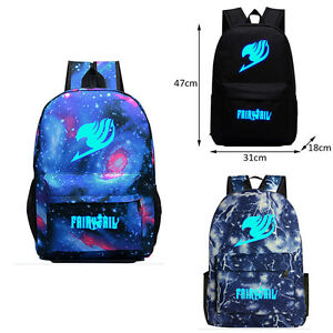 df27da332808 Details about Anime Fairy Tail Bag Luminous Canvas Rucksack Backpack School  Shoulder Cosplay #