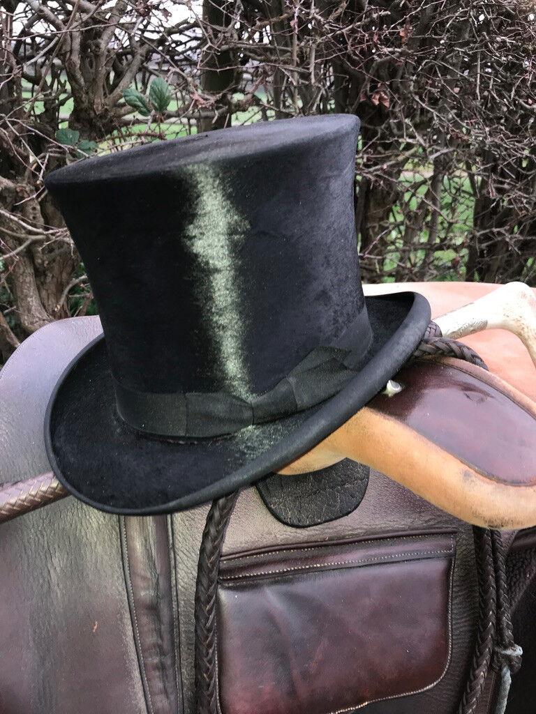 Sugdon SILK TOP HAT in pelle box. LARGE 55cm  5 34 CoroNA SIDE Saddle
