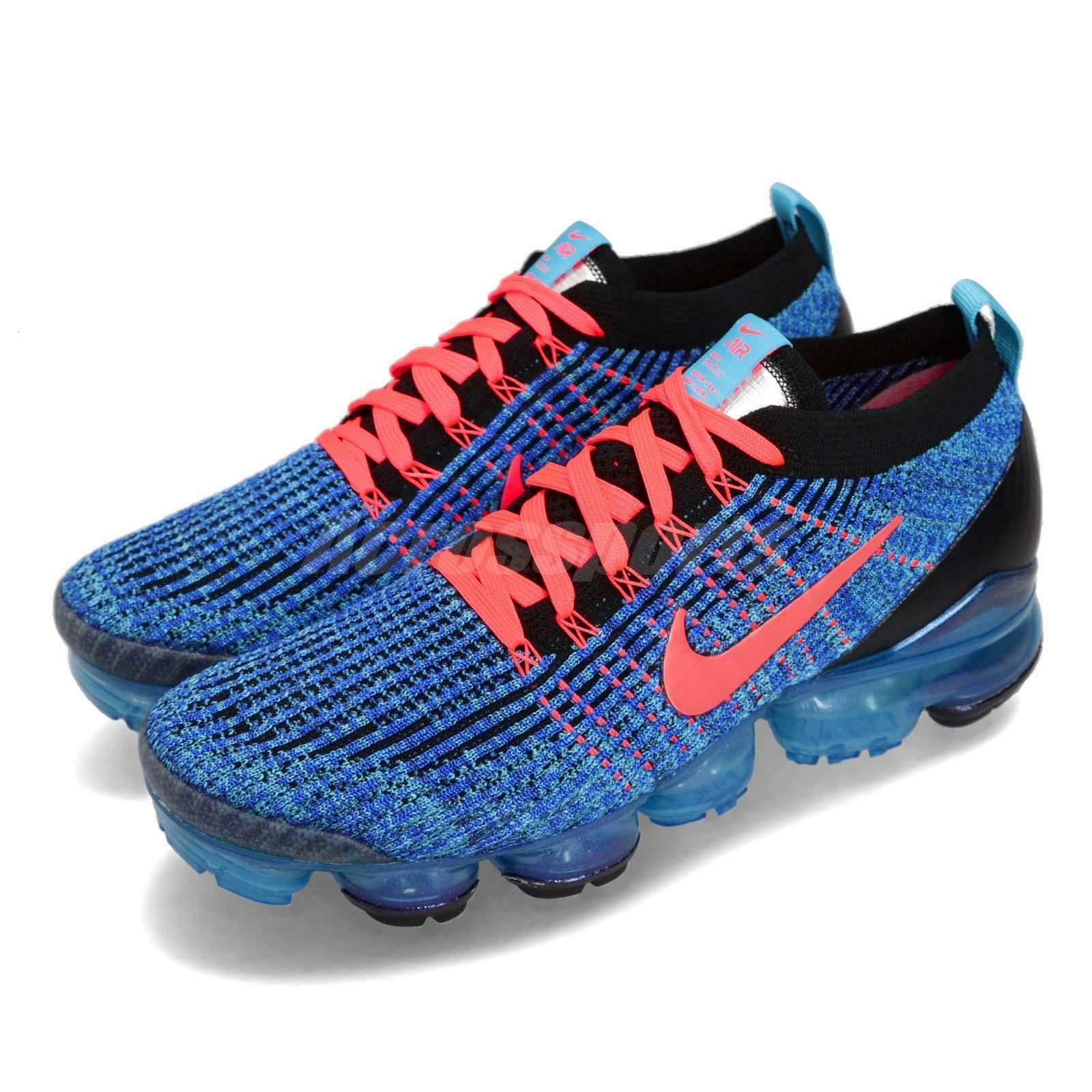 Nike  Air Vapormax Flyknit 3 bluee Fury Flash Crimson Men Running shoes AJ6900-401  looking for sales agent