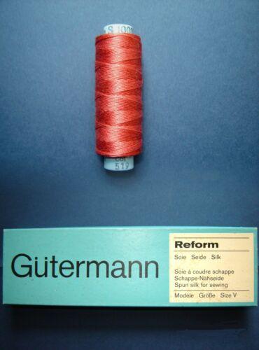 Nähseide 100/% seda Gütermann OVP 60mtr GR 30//3 FB 519 Stick Garn schappe-seda