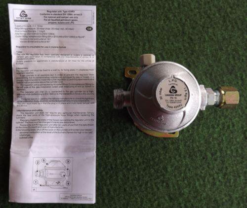 PROPANE LOW PRESSURE GAS REGULATOR 30 mbar TYPE 424RV MOTORHOME CARAVAN BOAT RV