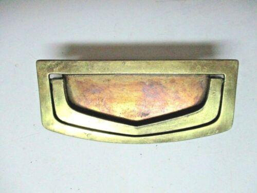"""KBC N12877 Brass Mortise Drop Bail Pull Handle Drawer Screw Spread=3/"""" Vintage 1"""