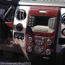 FORD F150 WOOD GRAIN DASH KIT.FITS 2013-2014 BENCH SEATS NO NAVIGATION
