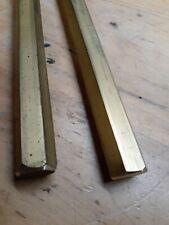 Two Pcs Brass Rods 34 In Hex 9 In Long 360 Hex Bar Brass 2 Pcs