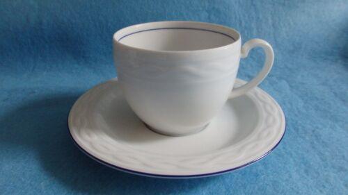 bleu bord 1 soucoupe Ascona Porcelaine Seltmann Weiden 1 tasse