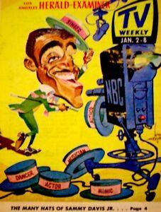 TV-Guide-1966-Sammy-Davis-Jr-Regional-TV-Weekly-Los-Angeles-Vintage-VG-COA