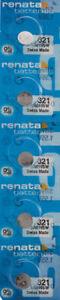 5-X-Renata-321-Watch-Batterien-sr616sw-Batterie-Versand-aus-USA