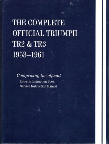 1953-1961 The Complete Official Triumph TR2 TR3 Factory Service Manual X125