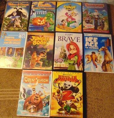 Lot Of 10 Animated Childrens Dvds Open Season Kung Fu Panda 2 Barnyard Ebay