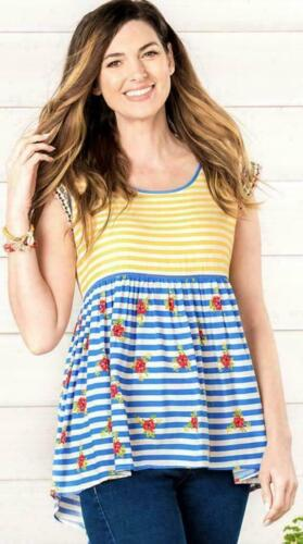 Matilda Jane ON MY MIND Top Tee Striped Embellished Womens S M L XL NWT In Bag