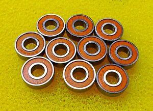 S688-2RS (8x16x5 mm) 440c CERAMIC Stainless Steel Bearing (10 PCS) ABEC-7 Orange