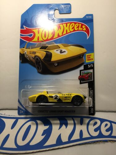 2019 Hot Wheels 53//250 Corvette Grand Sport Roadster #3//5 HW Roadsters