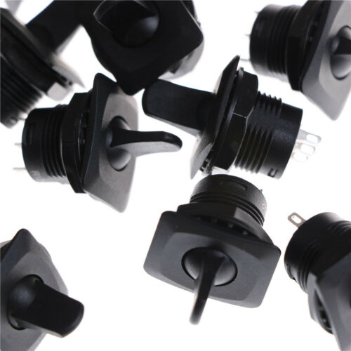 5 Pcs R13-402 Black ON-ON 3Pin 2Position Maintained SPDT Round Toggle Switch  HG