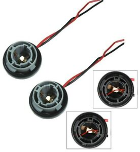 Universal Pigtail Wire Female Socket 1156 S Two Harness Front Turn Signal Plug