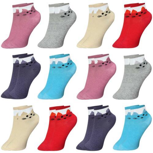 12 Paar Damen Socken 35-40 Kurzsocken Baumwolle Sneaker Füßlinge Sportsocken