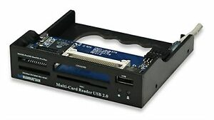 "LETTORE MULTI CARD READER MULTICARD USB 2.0 3.5"" INTERNO 63 1 - NERO - MANHATTAN - Italia - LETTORE MULTI CARD READER MULTICARD USB 2.0 3.5"" INTERNO 63 1 - NERO - MANHATTAN - Italia"