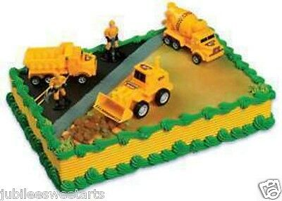CONSTRUCTION WORKERS DUMP TRUCK CAKE TOPPER SET NEW IN PACKAGE